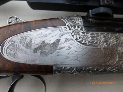 Gravure d'art sur armes